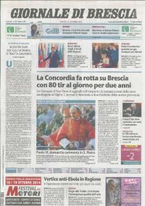20141018_Giornale di Brescia pag 1